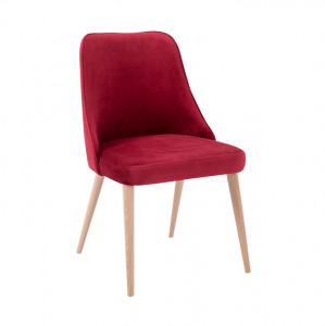 Scaun dining rosu din lemn si poliester Spring Chokeberry Custom Form