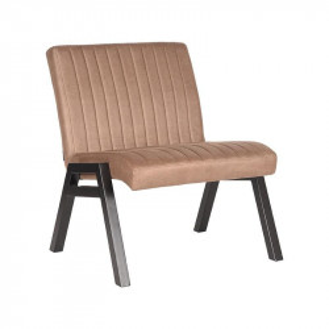 Scaun lounge gri piatra/negru din microfibre si metal Matz LABEL51