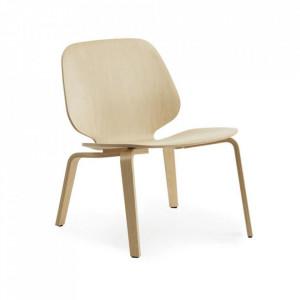 Scaun lounge maro din lemn de mesteacan My Chair Normann Copenhagen