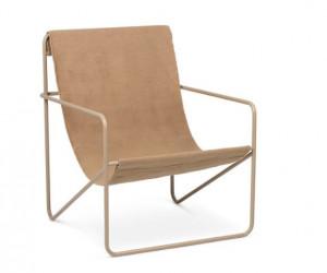 Scaun lounge maro din metal si textil Desert Cashmere Solid Ferm Living