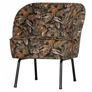 Scaun lounge multicolor din catifea si otel Vogue Be Pure Home