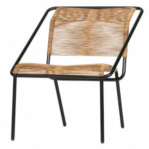 Scaun lounge pentru exterior maro/negru din polietilena si metal Wisp Be Pure Home