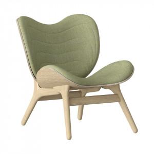 Scaun lounge verde/maro stejar din poliester si lemn A Conversation Piece Umage