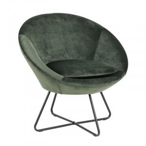 Scaun lounge verde padure/negru din textil si metal Center Actona Company