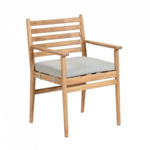 Scaun maro din lemn de eucalipt pentru exterior Simja La Forma
