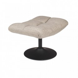 Scaunel gri deschis din poliester si otel Bar Light Grey Dutchbone