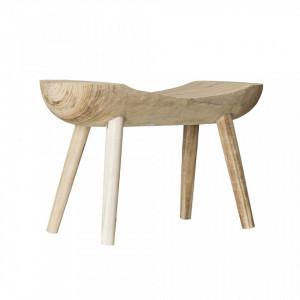 Scaunel maro din lemn de paulownia Nina Bloomingville