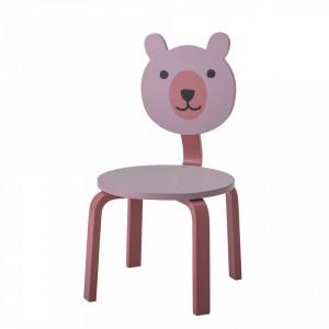 Scaunel roz pentru copii Animal Bloomingville