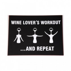 Semn metalic negru 35x26.5 cm Wine Lover's Workout