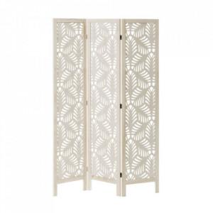 Separator camera alb din lemn si MDF 170 cm Paulonia Leaves White Unimasa