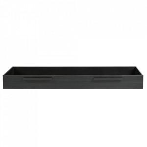 Sertar pat negru din lemn de pin Dennis Woood