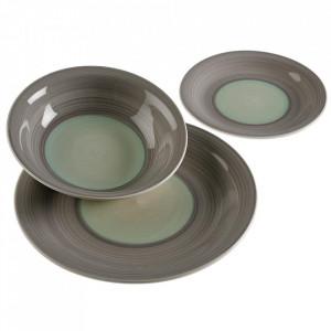 Set 18 farfurii gri din ceramica Allana Versa Home