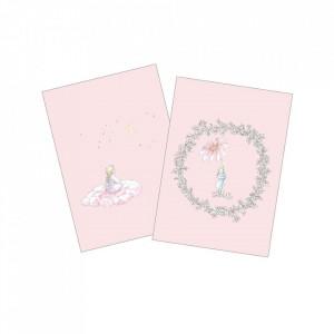 Set 2 carduri multicolore din hartie Lety Cam Cam