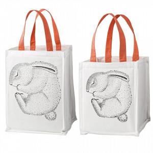 Set 2 cosuri albe din bumbac Rabbit Bloomingville