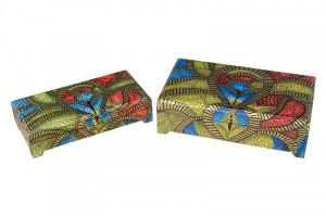 Set 2 cutii cu capac multicolore din lemn pentru bijuterii Uhni Giner y Colomer