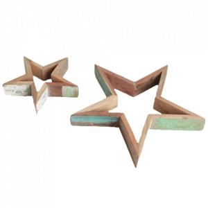 Set 2 decoratiuni multicolore din lemn reciclat 30 cm Ahoy Raw Materials