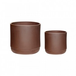 Set 2 ghivece rosu bordo din ceramica Williams Bordeaux Hubsch