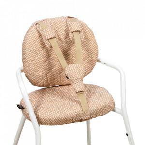 Set 2 perne si 3 accesorii pentru bebelusi bej nisipiu/albe din bumbac Tibu Diamond Charlie Crane