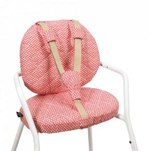 Set 2 perne si 3 accesorii pentru bebelusi rosii/albe din bumbac Tibu Diamond Charlie Crane