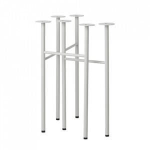 Set 2 picioare din metal pentru masa Mingle Light Grey Ferm Living