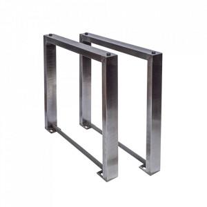 Set 2 picioare pentru masa argintii din inox Mammut Invicta Interior