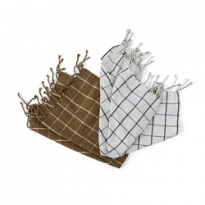 Set 2 prosoape bucatarie din bumbac 50x70 cm Gobi Off White Rubber Oyoy