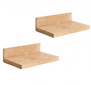 Set 2 rafturi maro din lemn de tec Vonia Raw Materials