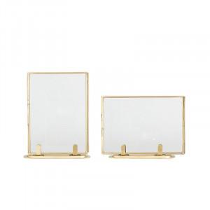 Set 2 rame aurii din alama 14x18 cm Bozhidar Bloomingville