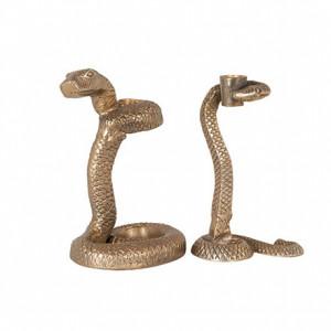 Set 2 suporturi aurii din aluminiu pentru lumanare Welton Richmond Interiors