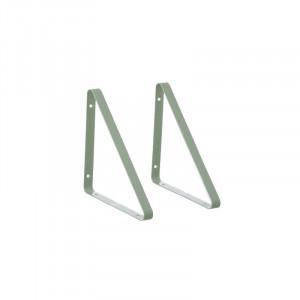 Set 2 suporturi verzi pentru raft din metal Ollaj Mint Ferm Living