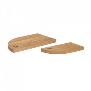 Set 2 tocatoare maro din lemn Oak Boards Hubsch