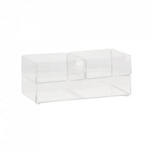 Set 3 cutii transparente din plastic acrilic Reyes Hubsch