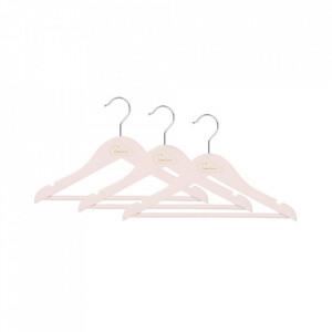 Set 3 umerase roz din lemn Alana Cam Cam