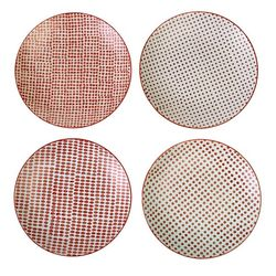Set 4 farfurii ceramice rosii Ø20 Red Dotties S Pols Potten