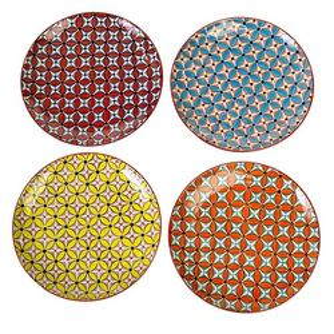 Set 4 farfurii multicolore din ceramica 27 cm Hippy Pols Potten