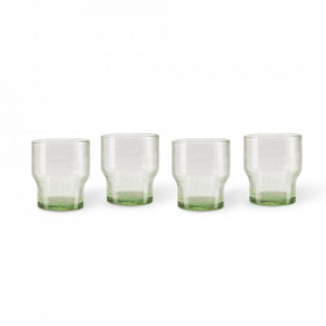 Set 4 pahare verzi din sticla Bubbles Pols Potten