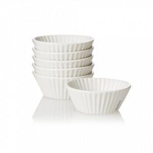 Set 6 forme albe din portelan pentru briose Estetico Quotidiano Cupcake Seletti