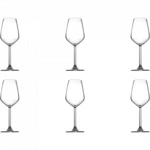 Set 6 pahare transparente din sticla pentru vin 300 ml Allegra