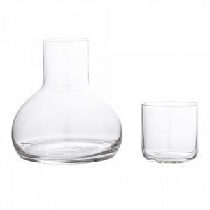 Set carafa si pahar din sticla transparenta Deca Bloomingville
