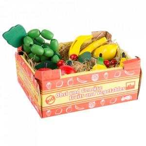 Set de joaca 12 piese din lemn Box with Fruits Small Foot