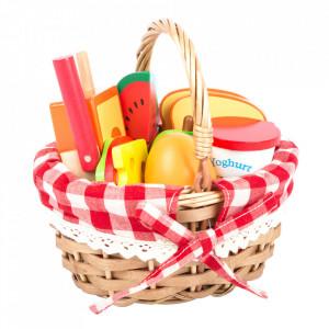 Set de joaca 17 piese din lemn de ceai Basket with Fruits Small Foot