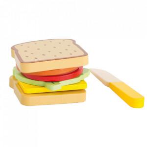 Set de joaca 7 piese din lemn de pin Sandwich Small Foot