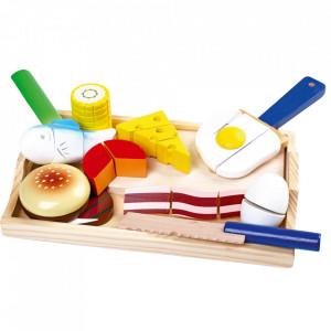 Set de joaca din lemn de brad si placaj Gourmet Small Foot