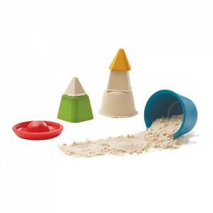 Set de joaca pentru nisip 4 piese din lemn Creative Sand Play Plan Toys