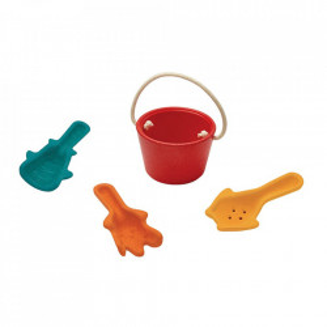 Set de joaca pentru nisip 4 piese din lemn Sand Play Plan Toys