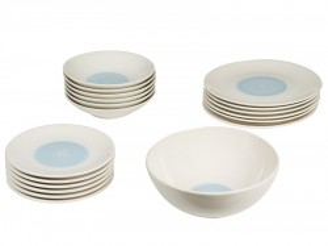 Set de masa 19 piese din ceramica Spiral Blue Santiago Pons