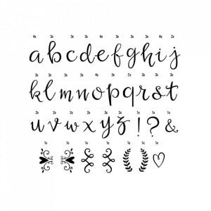 Set litere pentru caseta luminoasa negre Script A Little Lovely Company