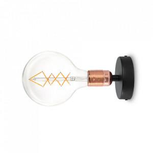 Spot negru/aramiu din otel Uno Bulb Attack