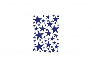 Sticker albastru pentru perete Mini Stars Blue Ferm Living