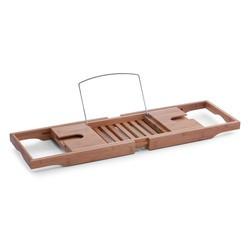 Suport ajustabil maro din lemn de bambus pentru accesorii baie 22x105 cm Bamboo Zeller